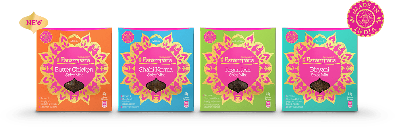 Receive a FREE Sample of Parampara Spice Mixes